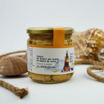 Trozos de Bonito del Norte de Burela en aceite de oliva